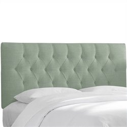 Skyline Furniture Tufted Panel Headboard in Blue