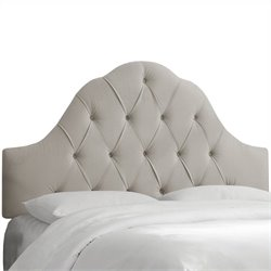 Skyline Furniture Arch Tufted Headboard in Gray