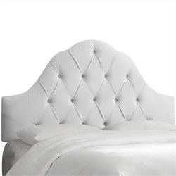 Skyline Furniture Arch Tufted Panel Headboard in White