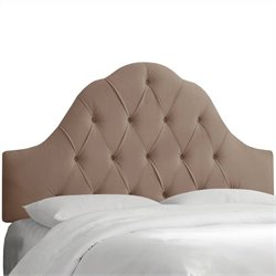 Skyline Furniture Arch Tufted Panel Headboard in Brown