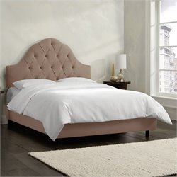 Skyline Furniture Arch Tufted Bed in Cocoa