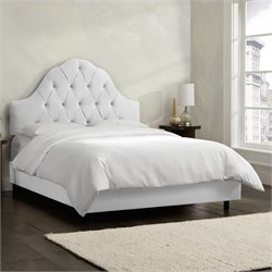 Skyline Furniture Arch Tufted Bed in White
