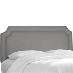 Skyline Notched Panel Headboard in Gray