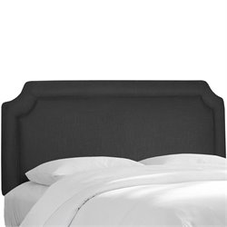 Skyline Notched Panel Headboard in Black