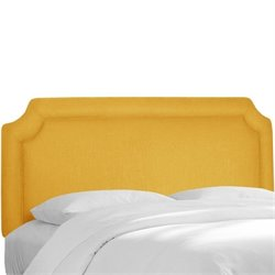 Skyline Notched Panel Headboard in Yellow