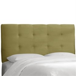 Skyline Tufted Panel Headboard in Green