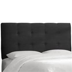 Skyline Tufted Panel Headboard in Black