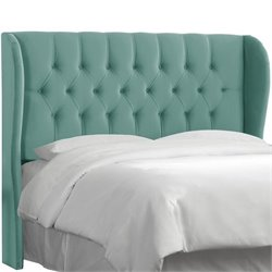 Skyline Tufted Wingback Panel Headboard in Laguna