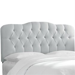 Skyline Tufted Panal Headboard in Silver