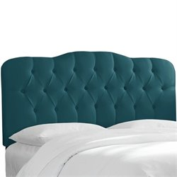 Skyline Tufted Panel Headboard in Peacock