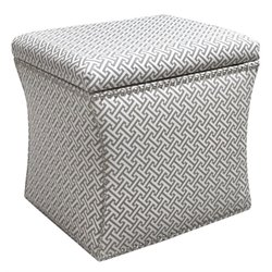 Skyline Nail Button Storage Ottoman in Cross Section Charcoal