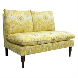 Skyline Armless Upholstered Loveseat in Alessandra Lemon