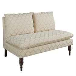 Skyline Armless Upholstered Loveseat in Pastis Sand