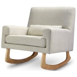 Nursery Works Sleepytime Rocker in Oatmeal Weave with Light Legs