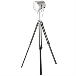 Dainolite Tripod Spotlight Floor Lamp in Chrome