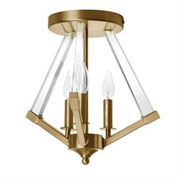 Dainolite Aalto 3 Light Acrylic Arm Semi Flush Mount