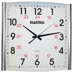 Dainolite Magnus Wall Clock in Silver