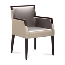 Domitalia Ariel-Pi Fabric Arm Chair in Gray