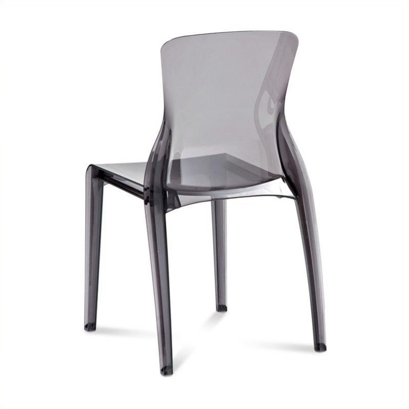 Domitalia Crystal  Dining Chair in Transparent Smoke