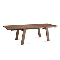 Domitalia Must-XL Rectangular Dining Table in Walnut Brown