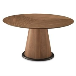 Domitalia Palio-152 Round Dining Table in Walnut