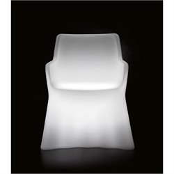 Phantom Translucent Arm Chair with Light