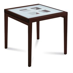 Domitalia Poker-90 Dining Table in Wenge and White