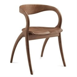 Domitalia Star Dining Chair in Walnut Brown