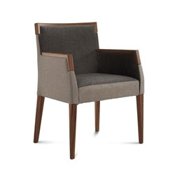 Domitalia Ariel Fabric Arm Chair in Brown