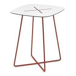 Domitalia Cross Square High End Table in Red