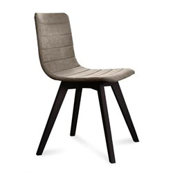 Domitalia Flexa Dining Chair in Flirt Sand and Anthracite