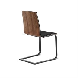 Domitalia Juliet Dining Chair in Black and Walnut
