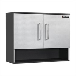 Black and Decker Wall Storage Cabinet in Charcoal Stipple and Silver