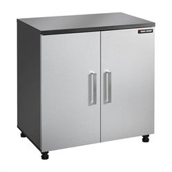 Black and Decker 2 Door Base Cabinet in Charcoal Stipple and Silver