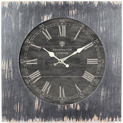 Yosemite Square Skip Movement Wall Clock Distressed Black Frame