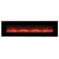Yosemite Hera 95'' Wall-Mount Electric Fireplace in Black