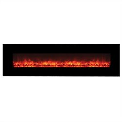 Yosemite Hera 95'' No Heat Wall-Mount Electric Fireplace