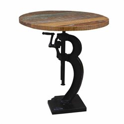 Yosemite Industrial Hand Painted Mango Adjustable Table