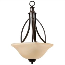 Yosemite Home Decor Tioga Pass 3 Lights Pendant in Oil Rubbed Bronze