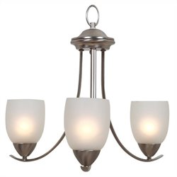 Yosemite Home Decor Mirror Lake 3 Lights Chandelier in Brush Nickel