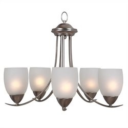 Yosemite Home Decor Mirror Lake 5 Lights Chandelier in Brush Nickel