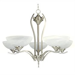 Yosemite Home Decor Glacier Point 5 Lights Chandelier in Satin Nickel