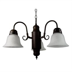 Yosemite Home Decor Manzanita 3 Lights Chandelier in Dark Brown
