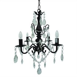 Yosemite Home Decor Becca 4 Lights Chandelier in Oil Rubbed Bronze