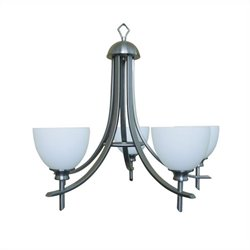 Yosemite Home Decor Sierra Point 5 Light Chandelier in Satin Steel