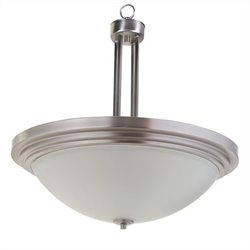 Yosemite Home Decor Aldridge 3 Lights Pendant Satin Nickel