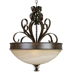 Yosemite Home Decor Mckensi 4 Lights Pendant Lighting in Bronze