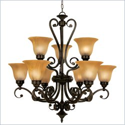 Yosemite Home Decor 9 Lights Chandelier in Venetian Bronze