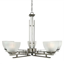 Yosemite Home Decor Half Dome 5 Lights Chandelier in Satin Nickel