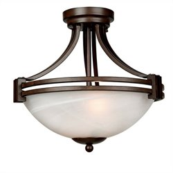 Yosemite Home Decor Sequoia 2 Lights Pendant Series in Dark Brown